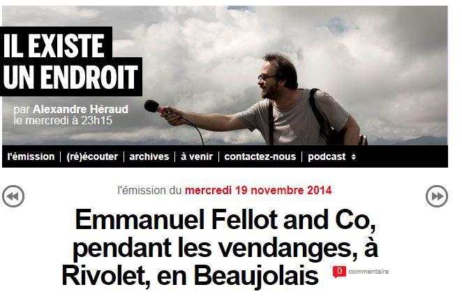 """France Inter : """"Il existe un endroit""""... dans nos vignes pendant les vendanges"""
