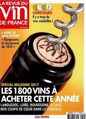 """Notre Côte-de-Brouilly """"Les cailloux"""" 2017 dans la Revue du Vin de France"""