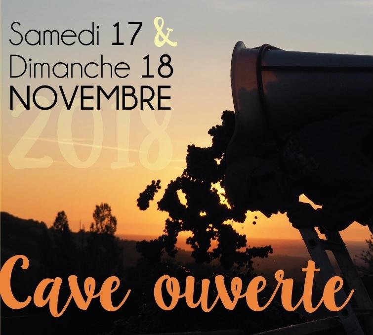 Cave ouverte pour le Beaujolais Nouveau 17 & 18 novembre