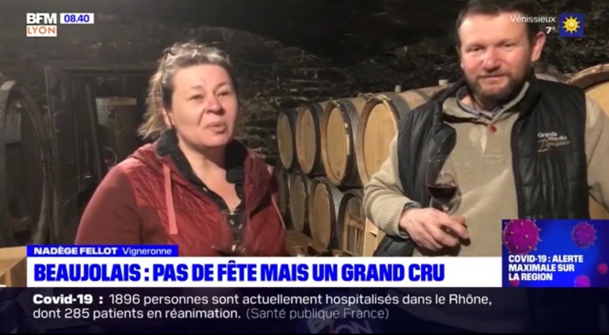 Beaujolais Nouveau 2020 - Reportage BFM Lyon